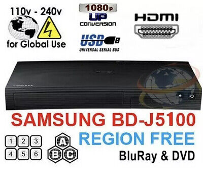 Samsung BD-J5100 Multi Zone All Region Free Blu-Ray DVD Disc Player