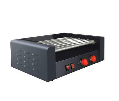 Commercial Electric 18 Hot Dog 7 Roller Grill Cooker Machine 1350watt .