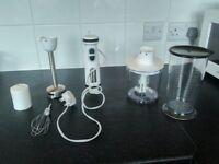Hand blender/whisk/food processor set £10