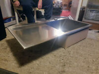 Franke Planar PPX 211 Stainless Steel Sink - LH Drainer - 1000 x 512mm - £500 new