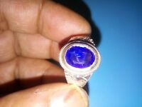 Blue Sapphire STONE Ring Size 12