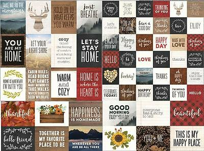 Jen Hadfield Warm   Cozy 60Pc Quotes Sentiments Die Cut Cards Fall Pocket Pages