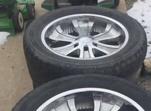 "Boss 20"" rims and tires 400.00"