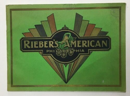 RARE 1931 RIEBER AMERICAN ART DECO SALES CATALOG BABY CARRIAGE STROLLER BICYCLE