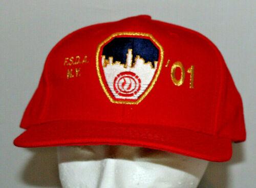 2001 red Fire Safety Directors Assoc. NY (FSDA NY) The Greatest baseball hat cap
