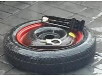 Spare wheel with Jack and tow pin