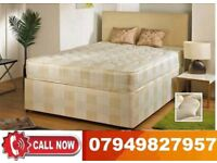 BLACK FRIDAY SALE--BRAND NEW DOUBLE DIVAN BASE WITH DEEP QUILT MATTRESS