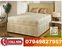 A.....BLACK FRIDAY SALE--BRAND NEW DOUBLE DIVAN BASE WITH DEEP QUILT MATTRESS