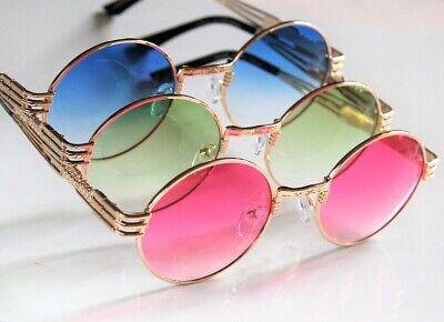 Fade Frame Gold Lens (Big Oval Oversized Fade Lens Glasses _Large Ornate Gold Metal Frame)