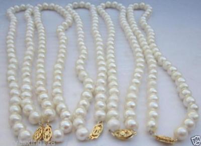 GROßHANDEL 5 STRÄNGE 8-9 MM WEIß AKOYA PERLENKETTE - Perlenketten Großhandel