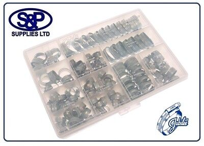 Jubilee Clip (GENUINE JUBILEE CLIP WORKSHOP PACK HCP143 - 143 ASSORTED HOSE CLIPS ZINC PLATED)