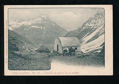 Chile Casucha De Piedra En El Camino Viaje Cordillera No 18 1900S U B Ppc