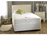 ** __ DOUBLE SIZE DIVAN BEDS ** __ BASE + FULL ORTHOPEDIC MATTRESS __ SAME DAY DELIVERY