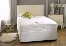 🔰🔰MEMORY FOAM SET 🔰BRAND NEW Black double divan bed Base with luxury memory foam mattress