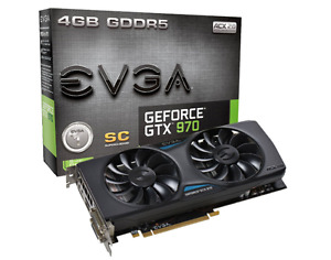 EVGA GeForce GTX 970 Superclocked ACX 2.0 4GB GDDR5