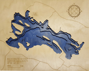 3D Laser Cut Wooden Topography & Lake Maps