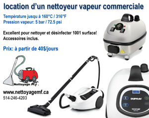 A louer- machine à la vapeur / steam cleaning machine rental