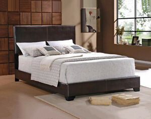 Dark Chocolate Leather Bedframe! STILL IN THE BOX!!