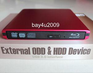USB 3.0 External Sony Optiarc BD-5730S BD5740H 3D Blu-Ray Burner BD-RE DVD Drive