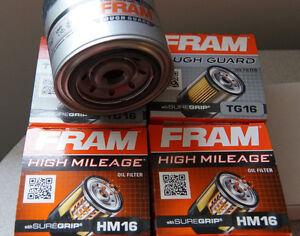 2x Fram TG16, and 2x Fram FH16