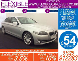 2010 BMW 530D 3.0 SE GOOD / BAD CREDIT CAR FINANCE FROM 54 P/WK