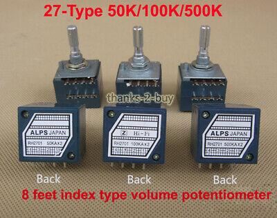Alps Volume Control 27-type Dual Potentiometer 50k100k500k Round Shaft Pcb