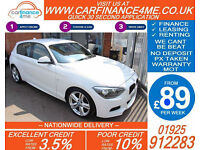2014 BMW 125D 2.0 M-SPORT AUTO GOOD BAD CREDIT CAR FINANCE FROM 89 P/WK