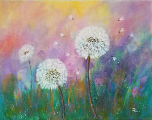 *Wish* 11 X 14 Acrylic Canvas Painting