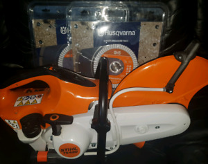 Brand new Stihl TS420 chop saw with new concrete blade