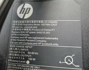 HP Adapter150W HSTNN-CA27 & Dell PA-10 & HP 130W PA-1121-12HC