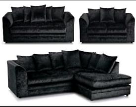 3+2 Dulon Crush Velvet sofas