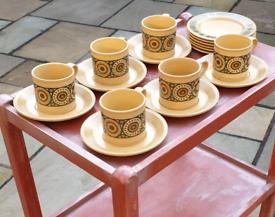 Kiln Craft Staffordshire Potteries 1970s 18 Piece Bacchus Design