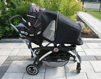 Almost Brand New Joovy Ergo Caboose Double Strollers