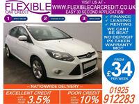 2012 FORD FOCUS 1.0 ECOBOOST ZETEC GOOD / BAD CREDIT CAR FINANCE AVAILABLE