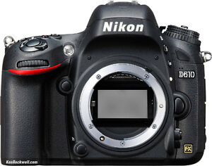 Nikon D610, 2 batteries and Other accessories