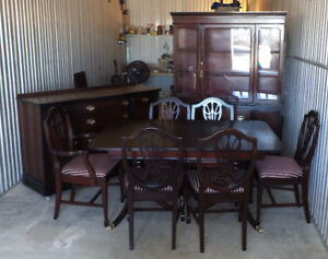Antique Dining Set Duncan Fife Flame Mahogany Refinished