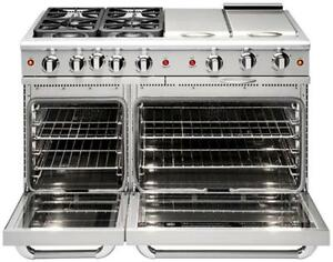 "Capital MCR484B 48"" four Sealed Burner + Dual BBQ Burner, all gas, manual clean range, Natural GasCapital Cooking Ranges"