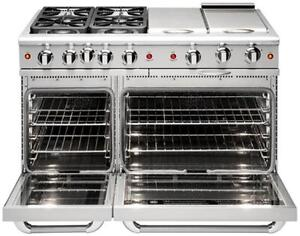 "Capital MCR484B 48"" four Sealed Burner + Dual BBQ Burner, Natural Gas Capital Cooking Ranges"