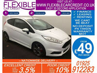 2015 FORD FIESTA 1.6 ECOBOOST ST-2 GOOD / BAD CREDIT CAR FINANCE FROM 49 P/WK