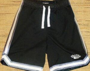 SIZE 5 - Oshkosh Black Lined Mesh Athletic Shorts (Like-New)