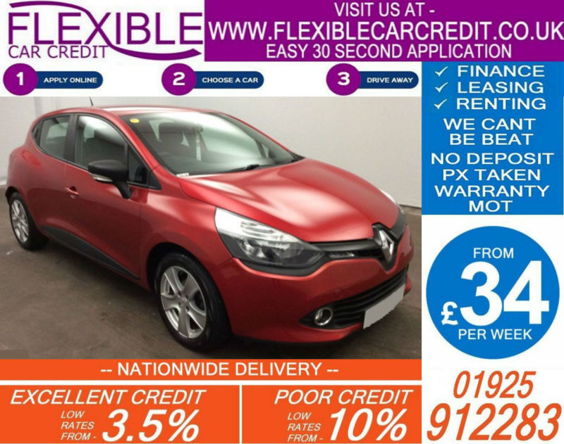 2015 RENAULT CLIO 1.5 DCI EXPRESSION GOOD / BAD CREDIT CAR FINANCE AVAILABLE