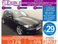 2008 BMW 120D 2.0 M-SPORT GOOD / BAD CREDIT CAR FINANCE FROM 29 P/WK