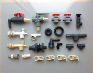 PVC Type Fittings and Valves Lot