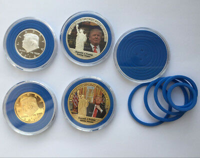 50 American Eagel Coin Half Dollars Capsules Holder Case with Blue Ring 16-41mm ()