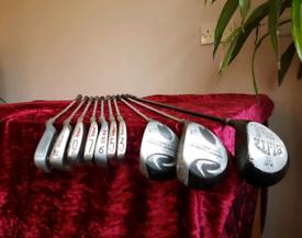 Golf clubs set brand new grips