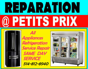 REPARATION REFRIGERATEUR CHAMBRE FROIDE TABLE FROID CONGÉLATEUR