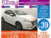2013 PEUGEOT 208 1.6 GTI GOOD / BAD CREDIT CAR FINANCE AVAILABLE