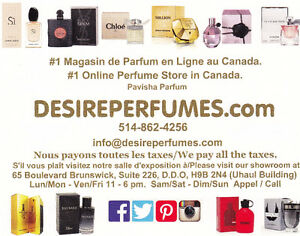 Parfums jusqu'à -75 % de réduction/Perfumes upto 75% off.
