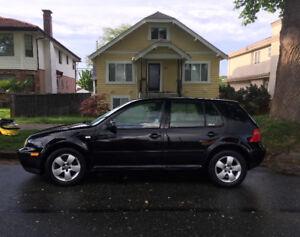2002 Black Manual Volkswagen Golf *REDUCED* 3,500 -