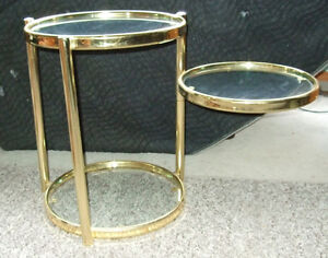 Decorative Articulate matching coffee and side tables Strathcona County Edmonton Area image 7